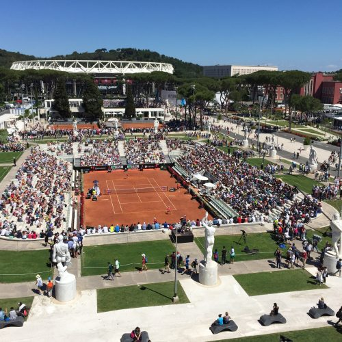 Beautiful View In Rome WTA Tournament Tennis Player Donna Vekic Tennis Coach Nick Horvat