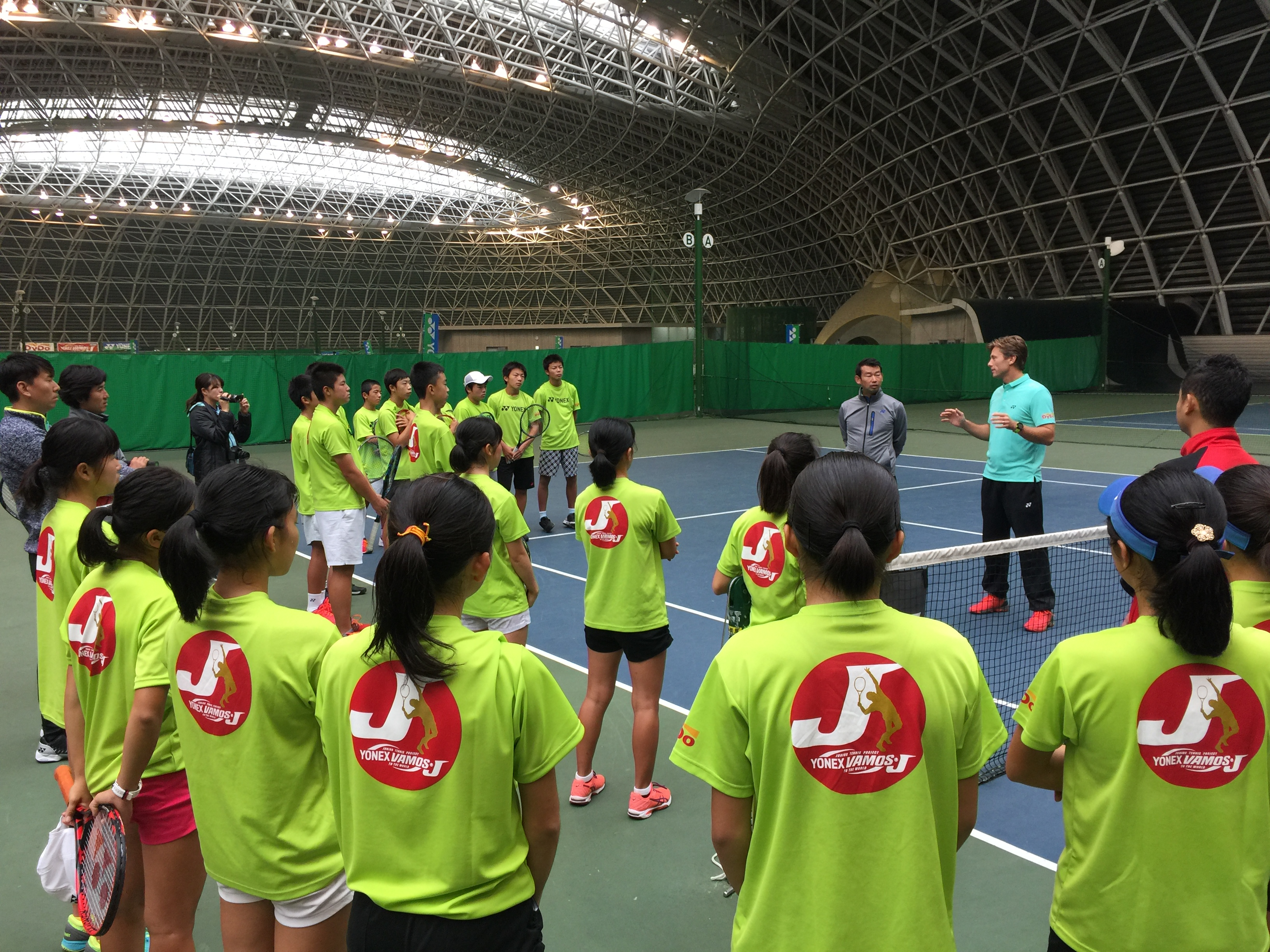 YONEX Vamos J training camp in Japan