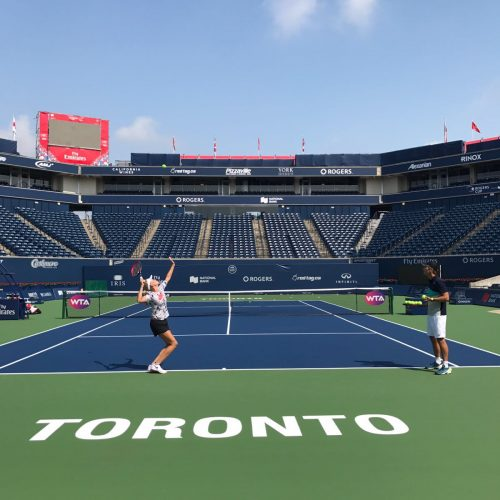 Start Of The US Open Series - Toronto, Canada Nick Horvat Tennis Player Donna Vekic
