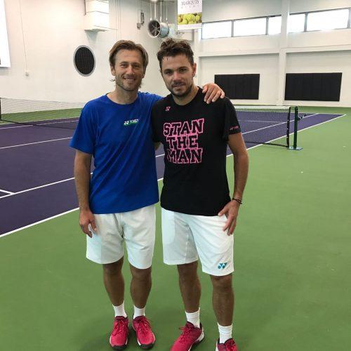 Tennis Coach Nick Horvat Tennis Player Stan Wawrinka - Miami Open 2017