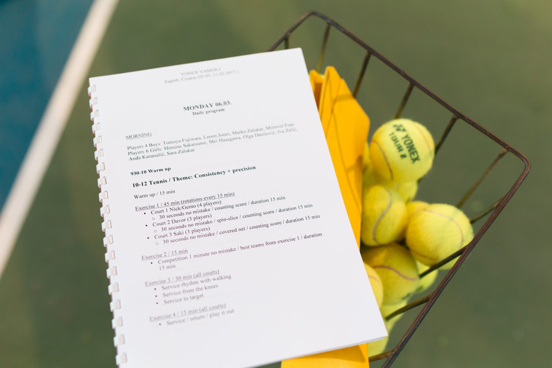 Tennis Coach Nick Horvat My Approach Integrative Coaching In Tennis YONEX Photo by Vuri Matija
