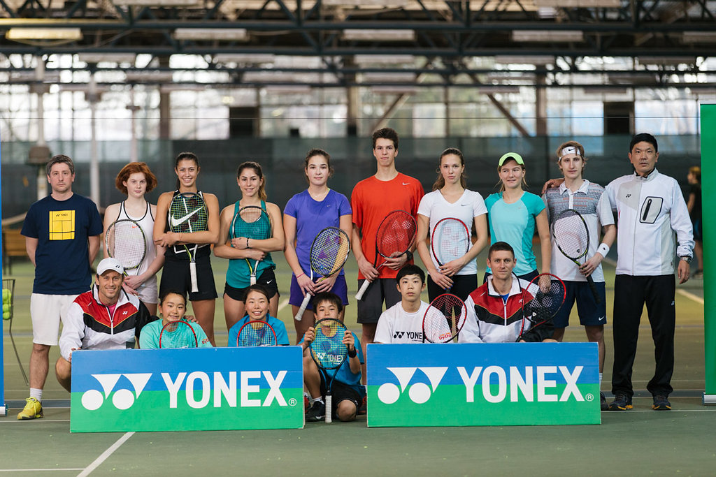 Tennis Coach Nick Horvat at YONEX Vamos J Training Camp In Zagreb, Croatia Photo by Vuri Matija