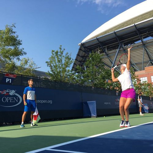 US Open 2017 Donna Vekic Nick Horvat Tennis Coach